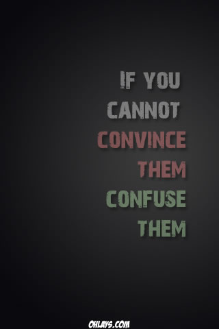 Confuse Them iPhone Wallpaper