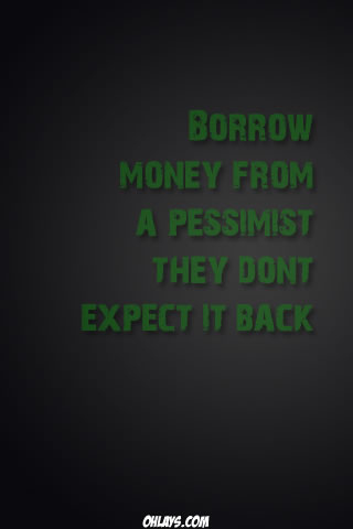 Pessimists iPhone Wallpaper