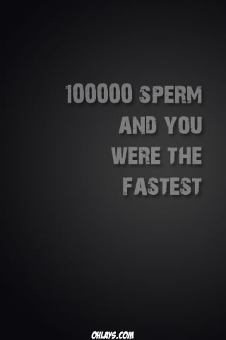 Sperm iPhone Wallpaper