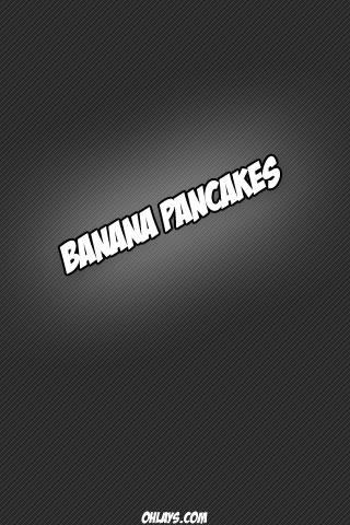 Banana Pancakes iPhone Wallpaper