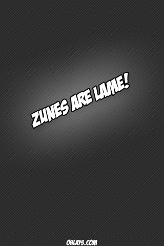 Zunes iPhone Wallpaper