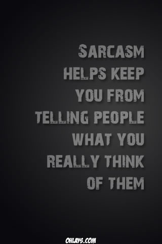 Sarcasm iPhone Wallpaper