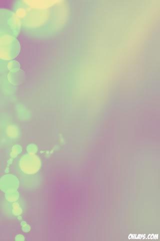 Green Bubbles iPhone Wallpaper