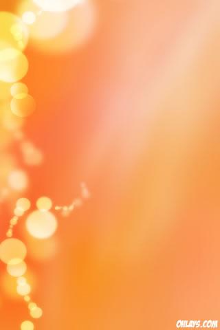 Orange Bubbles iPhone Wallpaper