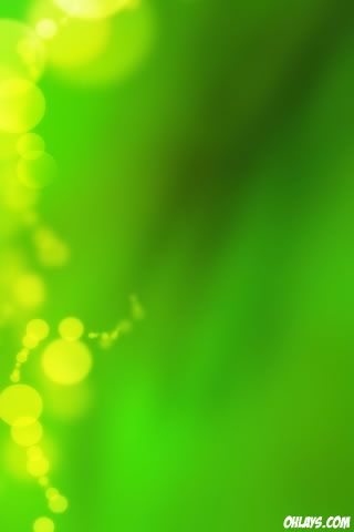 Green Bubbles iPhone Wallpaper