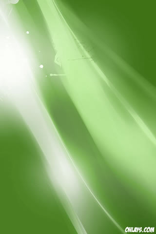 Green Rays iPhone Wallpaper