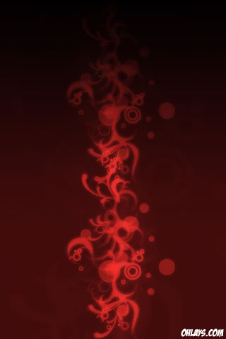 Red Tribal iPhone Wallpaper
