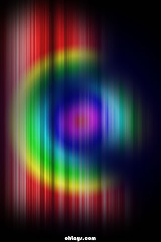 Rainbow Fibers iPhone Wallpaper