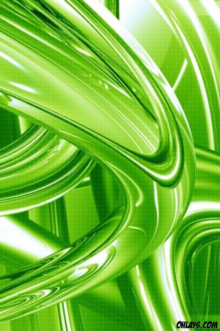 Green Rings iPhone Wallpaper