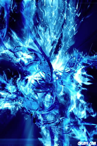 Blue Wallpaper on Blue Flames Iphone Wallpaper    4534   Ohlays