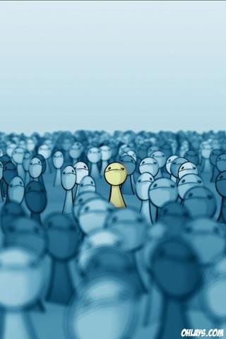 Crowd iPhone Wallpaper