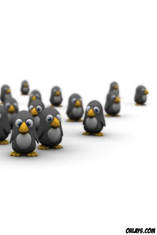 Penguins iPhone Wallpaper