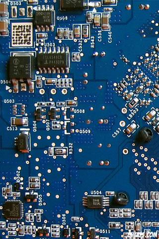 Circuit iPhone Wallpaper