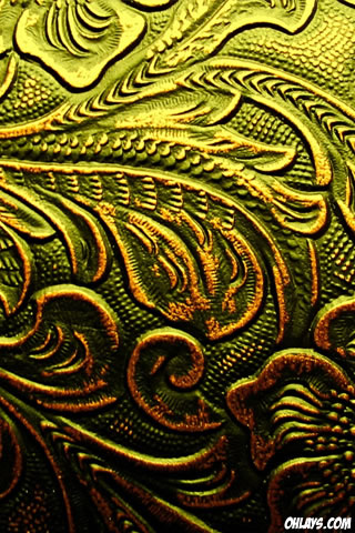 Gold Pattern iPhone Wallpaper