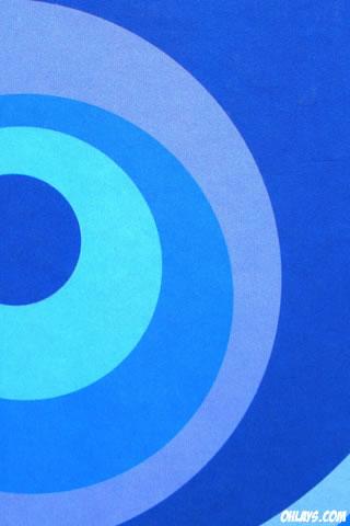 Blue Circles iPhone Wallpaper