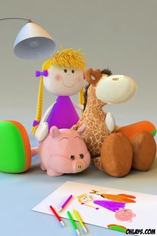Toys iPhone Wallpaper