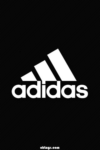 Black Adidas iPhone Wallpaper