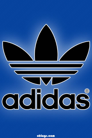blue adidas iphone wallpaper 1182 ohlays