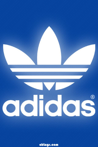 Blue Adidas iPhone Wallpaper