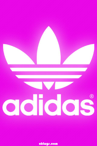 Pink Adidas iPhone Wallpaper