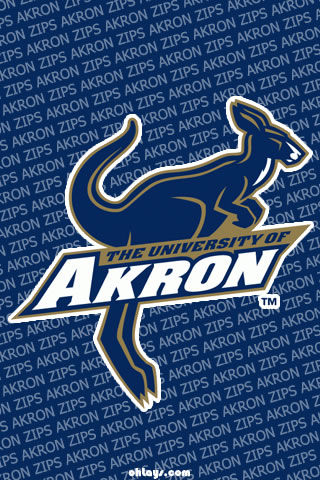 Akron Zips iPhone Wallpaper
