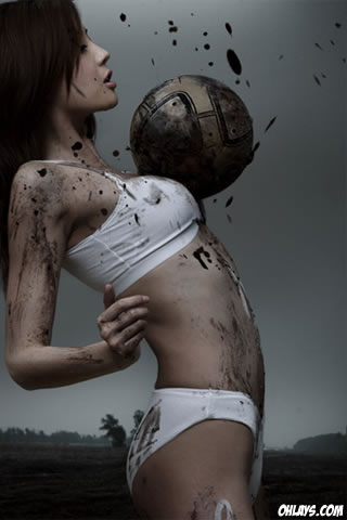 Sexy Soccer iPhone Wallpaper