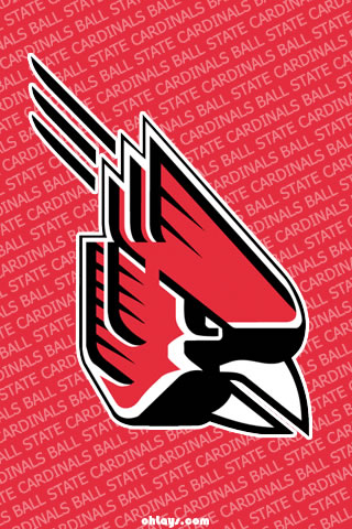 Ball State Cardinals iPhone Wallpaper