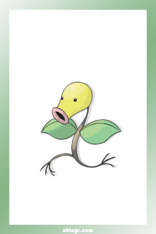 Bellsprout iPhone Wallpaper