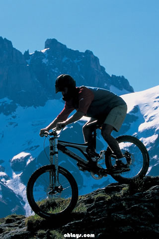 Moutain Biking iPhone Wallpaper