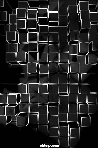 White Blocks iPhone Wallpaper