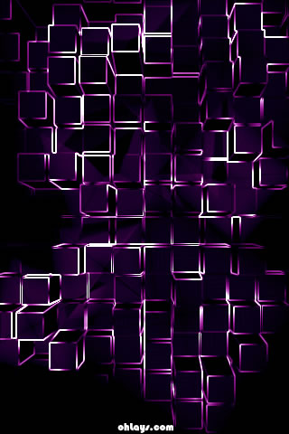 Purple Blocks iPhone Wallpaper