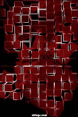 Red Blocks iPhone Wallpaper