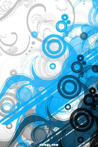 Blue Swirls iPhone Wallpaper