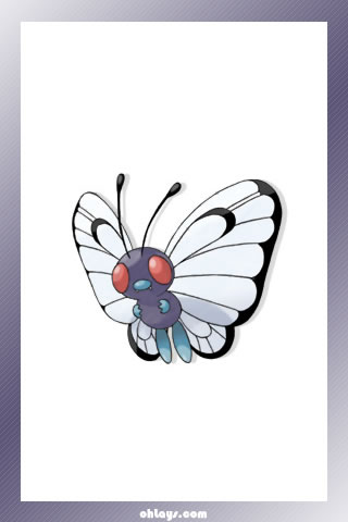 Butterfree iPhone Wallpaper
