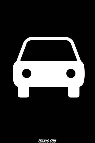 White Car iPhone Wallpaper