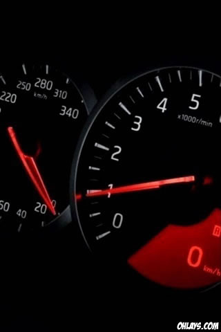 Tachometer iPhone Wallpaper
