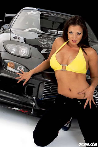 Car Chick iPhone Wallpaper