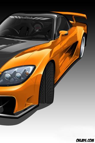 Orange Car iPhone Wallpaper