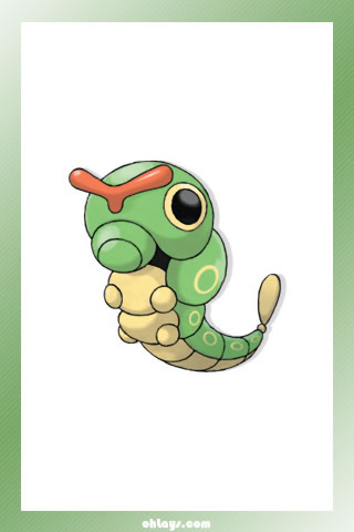Caterpie iPhone Wallpaper