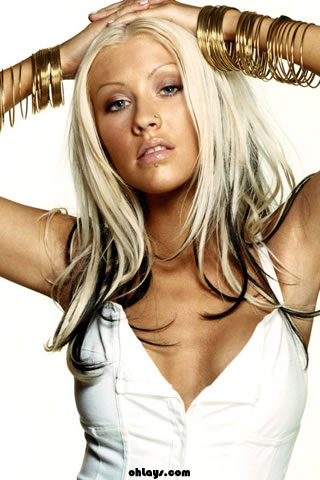 Christina Aguilera iPhone Wallpaper
