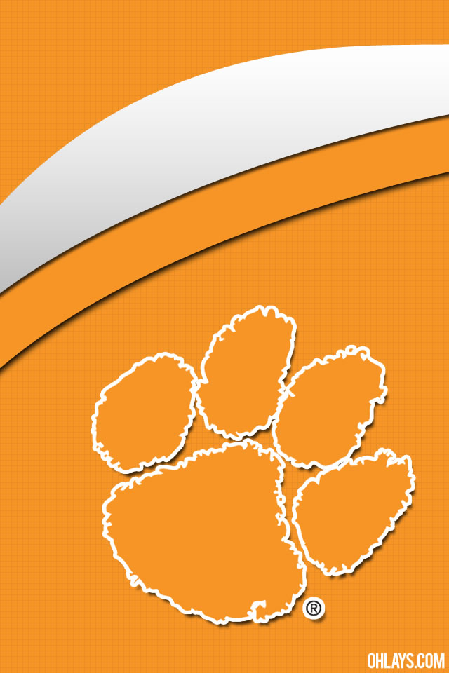 Clemson Tigers iPhone Wallpaper