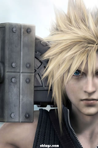 cloud strife iphone wallpaper 222 ohlays