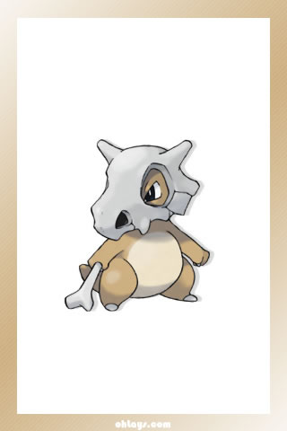 Cubone iPhone Wallpaper