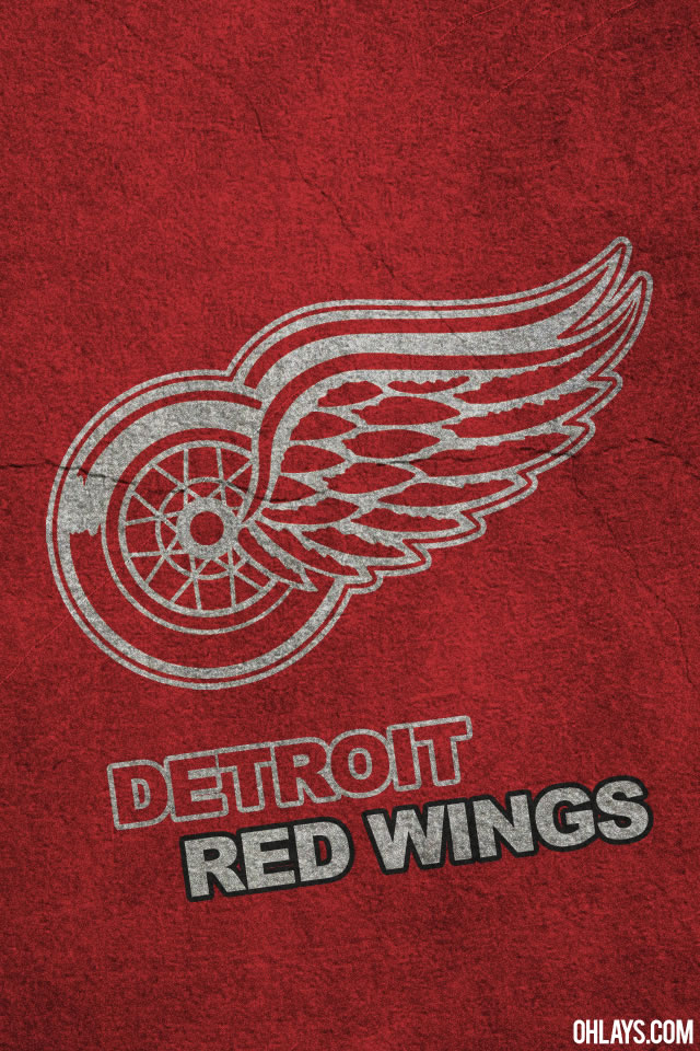 Detroit Red Wings Logo http://www.sportsgeekery.com/21857/detroit-red-wings-iphone-wallpapers/