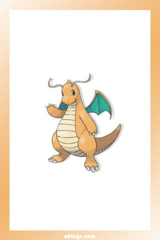 Dragonite iPhone Wallpaper