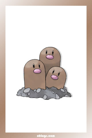 Dugtrio iPhone Wallpaper