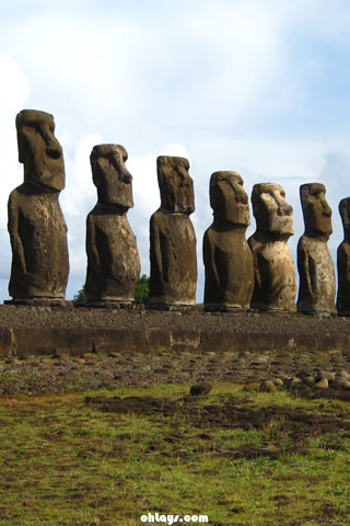 Easter Island iPhone Wallpaper