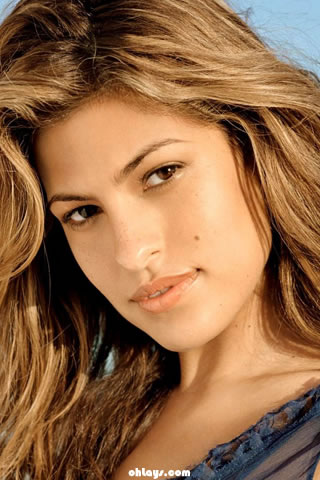 Eva Mendes iPhone Wallpaper