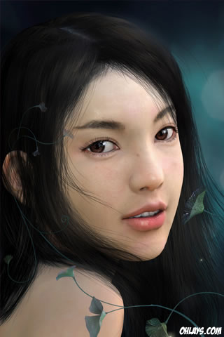 Hot Female iPhone Wallpaper