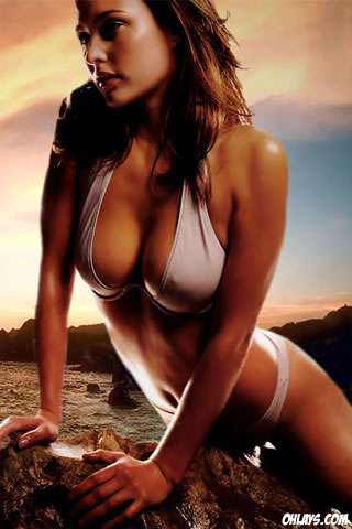 Bikini Girl iPhone Wallpaper